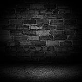 Abstract luxury black cement brick with border black vignette ba Royalty Free Stock Image