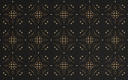 Abstract luxury black pattern background. And circle textile Royalty Free Stock Photography