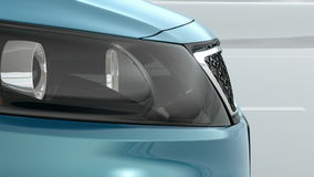 Abstract Luxury Car closeup view 3d illustration Royalty Free Stock Image