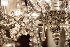 Abstract luxury crystal chandelier, retro, vintage Royalty Free Stock Photo
