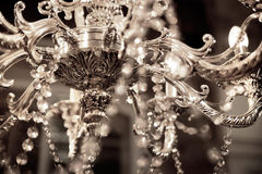Abstract luxury crystal chandelier, retro, vintage Stock Photography