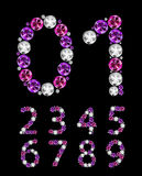 Abstract Luxury Diamond Numbers Vector Royalty Free Stock Photography