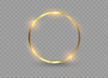 Abstract luxury golden ring. Vector light circles and spark light effect. Abstract luxury golden ring. Vector light circles and spark light effect Royalty Free Stock Photos