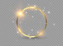 Abstract luxury golden ring. Vector light circles and spark light effect. Abstract luxury golden ring. Vector light circles and spark light effect Royalty Free Stock Image