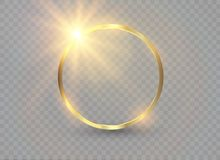 Abstract luxury golden ring. Vector light circles and spark light effect. Abstract luxury golden ring. Vector light circles and spark light effect Stock Images