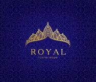 Abstract luxury, royal golden company logo icon vector design. vector illustration