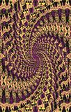 Luxurious unique pattern. Spiral of colored spots diverge from the middle to the edges. Vector. Abstract luxury, texture. Illustration and decoration. Violet Royalty Free Stock Photography