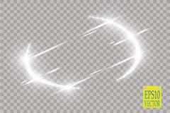 Abstract luxury vector light flare semicircle and spark light effect.  Stock Photography