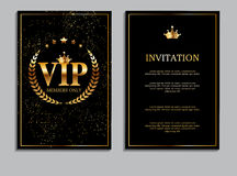 Abstract Luxury VIP Members Only Invitation Background Vector Il. Lustration EPS10 Stock Images