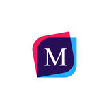 Abstract M letter logo company icon. Creative vector emblem bran Royalty Free Stock Photos