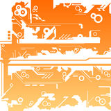 Abstract machine maze background Stock Images