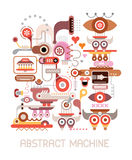 Abstract Machine vector illustration Stock Photography