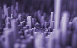 Abstract macro city Stock Photography