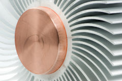 Abstract macro with a detail of a heatsink. Abstract macro with the detail of a metallic heatsink Royalty Free Stock Photos