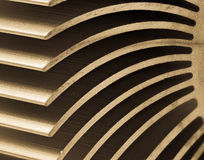 Abstract macro with a detail of a heatsink. Abstract macro with the detail of a metallic heatsink Royalty Free Stock Photography