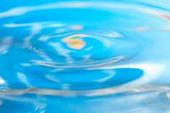 Abstract macro of moving waves on luquid Royalty Free Stock Photography