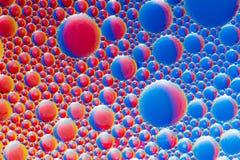 Abstract Macro Oil Bubbles Stock Photo