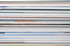Abstract magazine pages. An abstract view of magazine pages Royalty Free Stock Images