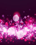 Abstract magenta bokeh background. Abstract magenta and white bokeh background. Vector illustration Royalty Free Stock Images