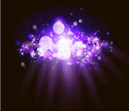 Abstract magenta bokeh and  light background. Royalty Free Stock Images