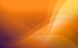 Abstract magic background. Wallpaper in orange colors with waves Stock Image