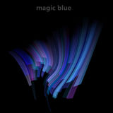 Abstract magic background with blue lines. Vector illustration Royalty Free Stock Images