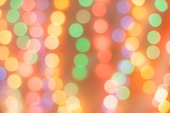 Abstract magic background with christmas lights, colorful blurry Royalty Free Stock Image