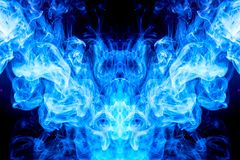 Abstract magic background. Cloud of blue, purple smoke on a black isolated background. Background from the smoke of vape vector illustration