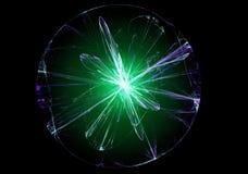 Abstract magic ball. Abstract magic green ball. Fractal art graphics Stock Photography