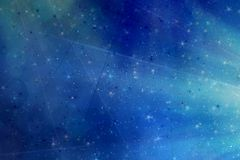 Abstract magic blue background Stock Images