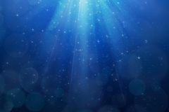 Abstract magic blue background Stock Image