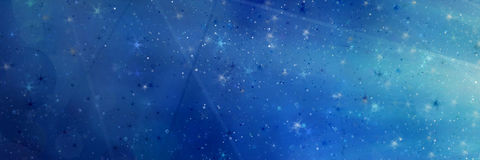 Abstract magic blue background Stock Photo