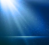 Abstract magic blue light background Royalty Free Stock Photography