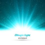 Abstract magic blue light background Stock Photo