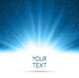 Abstract magic blue light background Stock Images