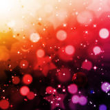 Abstract magic bokeh and star background Royalty Free Stock Photography