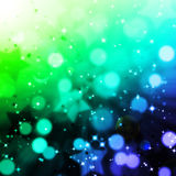 Abstract magic bokeh and star background Royalty Free Stock Images