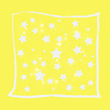 Abstract magic bokeh white star on yellow background Stock Photos