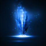 Abstract magic crystal. Futuristic illustration royalty free illustration