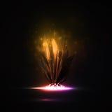 Abstract magic crystal. Futuristic illustration Stock Illustration