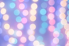 Abstract magic background with christmas lights, colorful blurry Royalty Free Stock Images