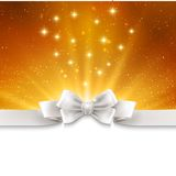 Abstract magic gold light background with white Royalty Free Stock Images