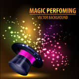 Abstract Magic Hat Background Stock Images