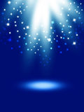 Abstract magic light background. Blue holiday burst Royalty Free Stock Photos