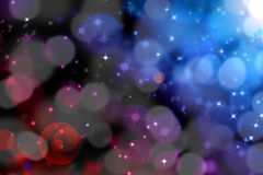 Abstract magic light bokeh with glittering star Royalty Free Stock Images