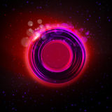 Abstract magic purple glowing ring background Stock Images