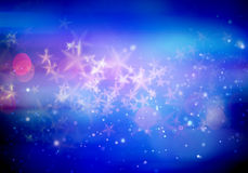 Abstract magic stars background. Abstract magic stars on blue background Stock Image