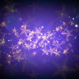Abstract magic stars background. Abstract magic stars on purple background Royalty Free Stock Photography