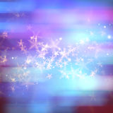 Abstract magic stars background. Abstract magic stars on purple blue background Royalty Free Stock Images