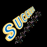 Abstract magic success text on black background Stock Photography